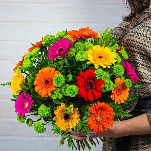 Солнечные герберы: букеты цветов на заказ Flowwow