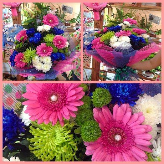Красочный дуэт: букеты цветов на заказ Flowwow