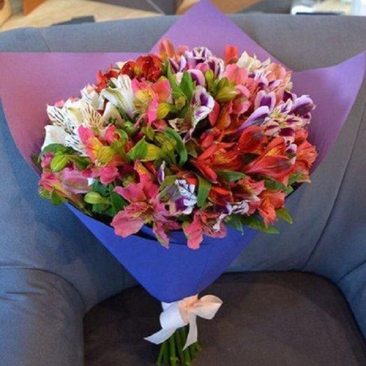 Букет из 15 альстромерий: букеты цветов на заказ Flowwow