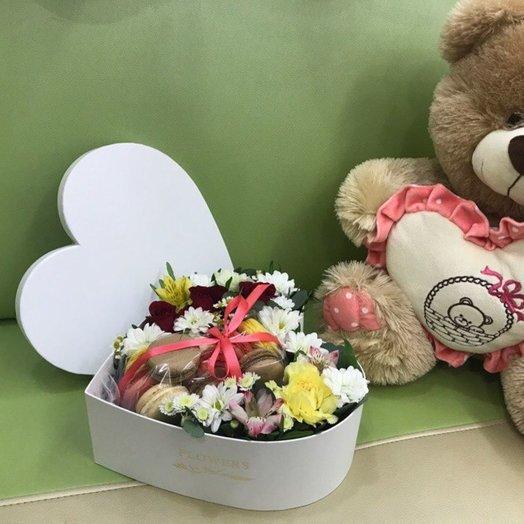 Сладкий сюрприз: букеты цветов на заказ Flowwow