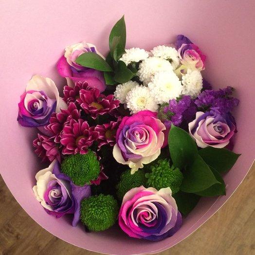 ХИТ S с розами Bubble gum: букеты цветов на заказ Flowwow