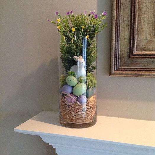 Композиция в тубе «Пасхальное настроение»: букеты цветов на заказ Flowwow