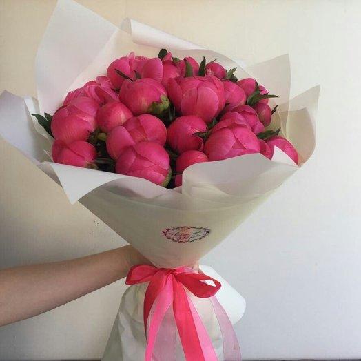 Букет из 25 пионов : букеты цветов на заказ Flowwow