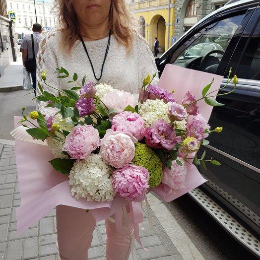 Пионовый десерт: букеты цветов на заказ Flowwow
