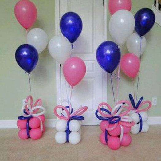 Подарок один+ воздушные шары 3 шт: букеты цветов на заказ Flowwow