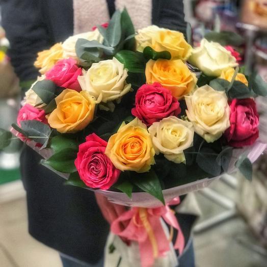 Букет из разновидных роз: букеты цветов на заказ Flowwow