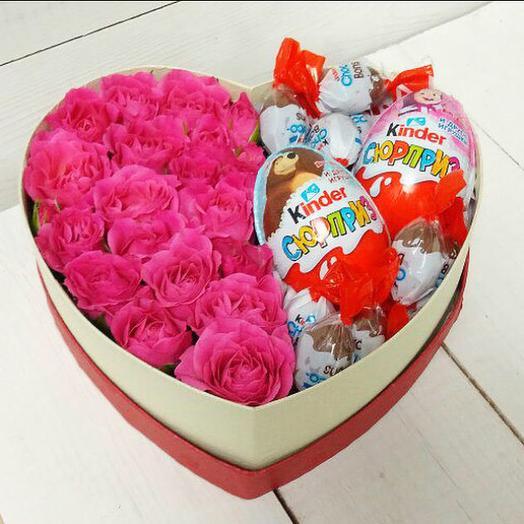 Сладкий комплимент: букеты цветов на заказ Flowwow