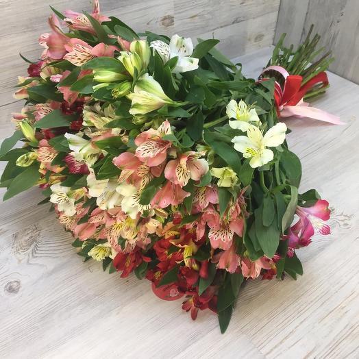 Шикарный букет альстромерий: букеты цветов на заказ Flowwow