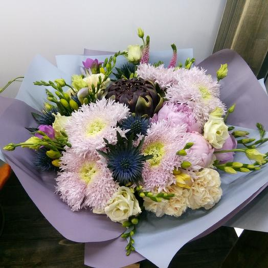 Плюшевый контраст: букеты цветов на заказ Flowwow