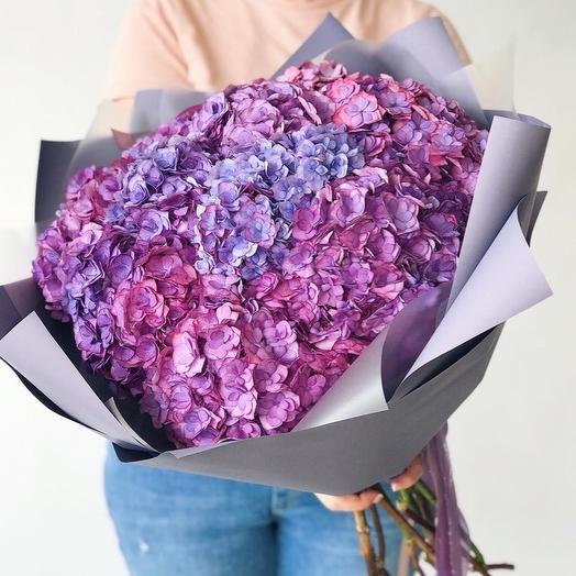 Сиреневые гортензии: букеты цветов на заказ Flowwow