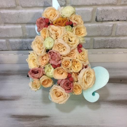 Ванильный Единорожек: букеты цветов на заказ Flowwow