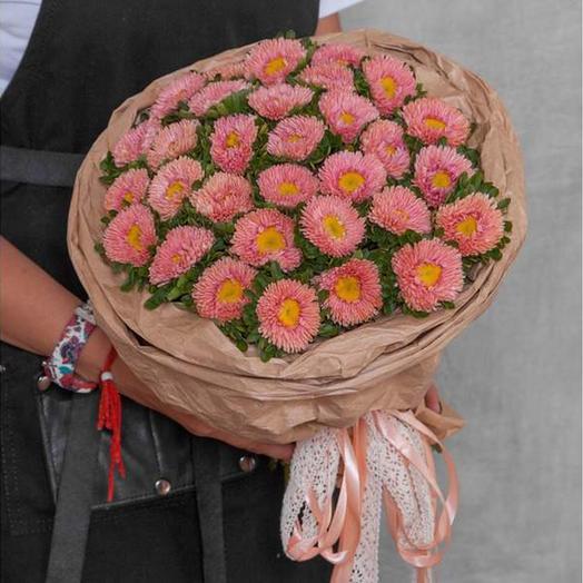 """Букет """"31 оранжевых астр"""": букеты цветов на заказ Flowwow"""
