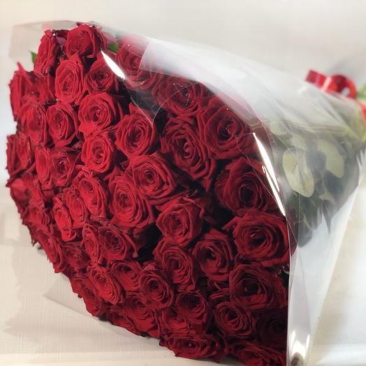 51 роза с лентой: букеты цветов на заказ Flowwow
