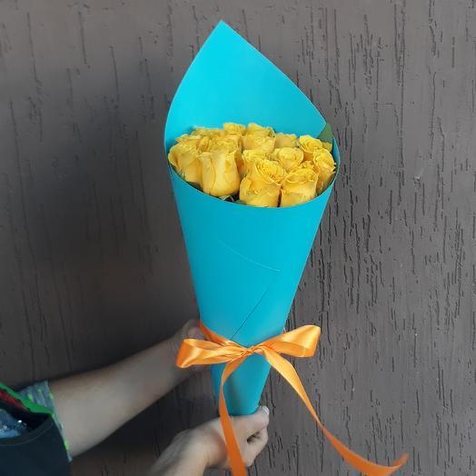 Букет из 15  кенийских роз: букеты цветов на заказ Flowwow