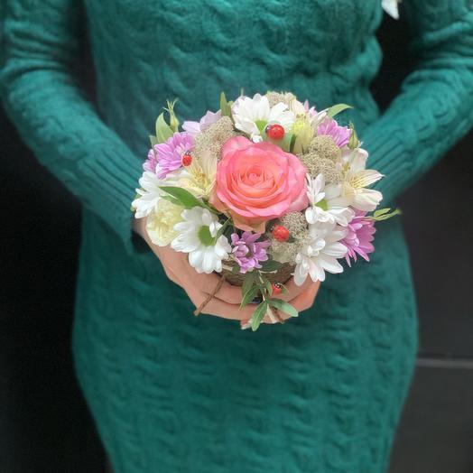 Стаканчик «нежность»: букеты цветов на заказ Flowwow