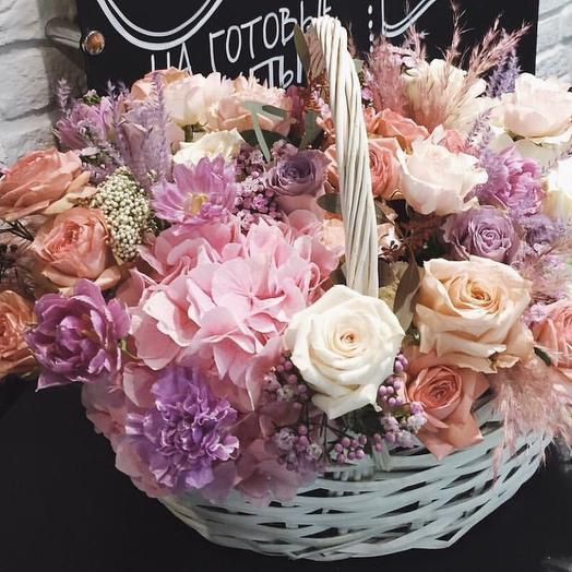 """Цветы в корзине """"Наваждение"""""""