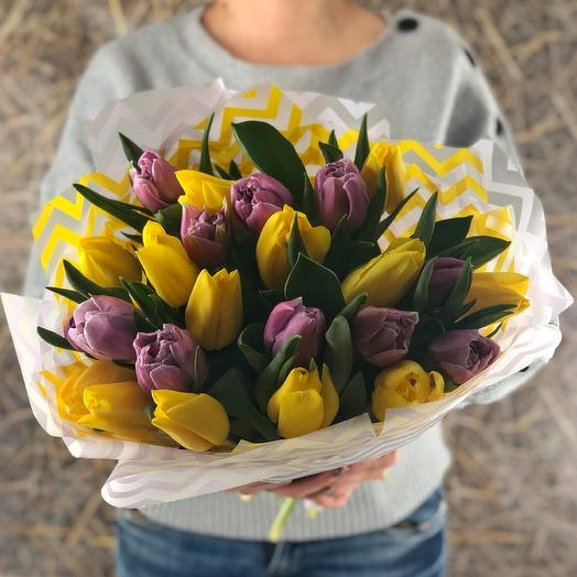 Yellow-purple mix (23 Tulip)