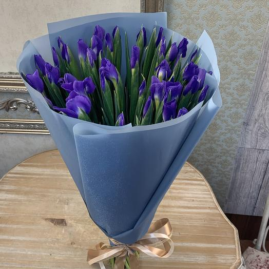 Ирисы 49 штук: букеты цветов на заказ Flowwow
