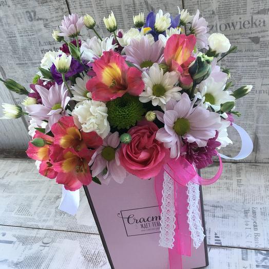 Композиция из цветов в розовых тонах: букеты цветов на заказ Flowwow