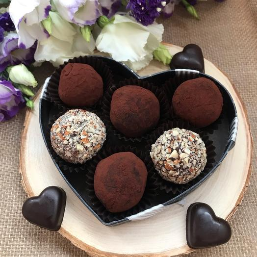 «Классика Трюфель» 2 вида: трюфель на основе темного бельгийского шоколада, кофейный трюфель