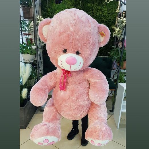 Розовый медведь 130см