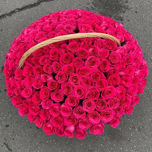 Корзина с цветами Pink