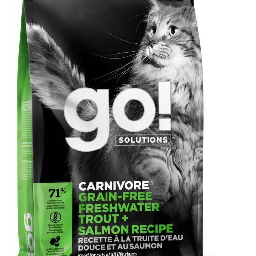 GO! беззерновой корм для котят и кошек с чувствительным пищеварением с форелью и лососем 3,63 кг