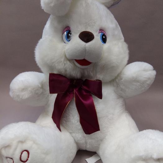 """Кролик """"Лаврик"""" белый"""