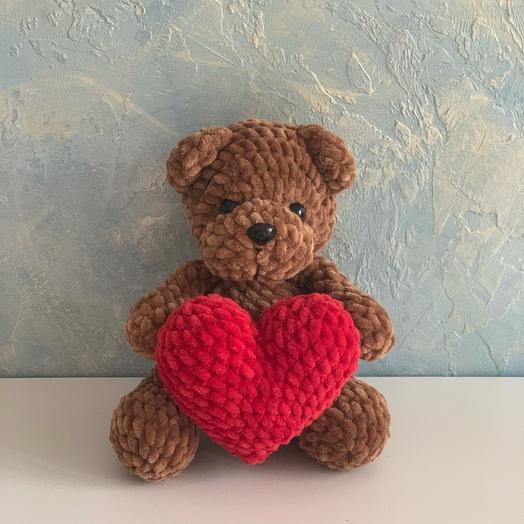 Мягкая игрушка мишка с сердечком медведь
