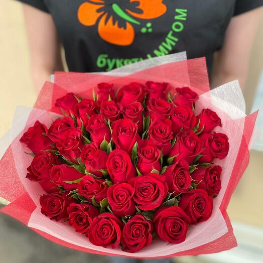 """Букет из 35 красных роз """"Кения"""""""