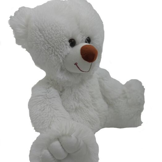Мишка  50 см «Бейли» белый