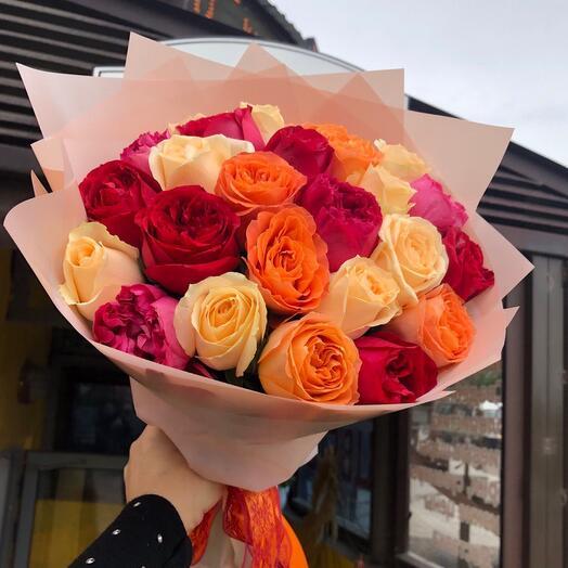 25 роз  Кения микс