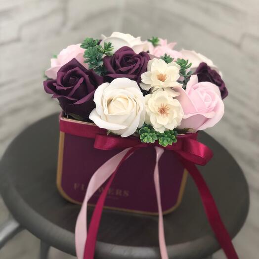Микс мыльных цветов  в коробке