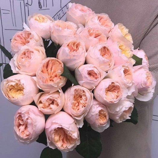 Букет из пионовидной розы JULIET: букеты цветов на заказ Flowwow