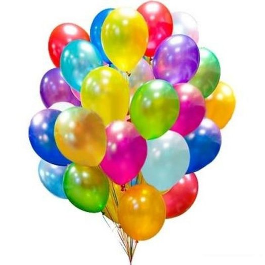 35 colorful balloons