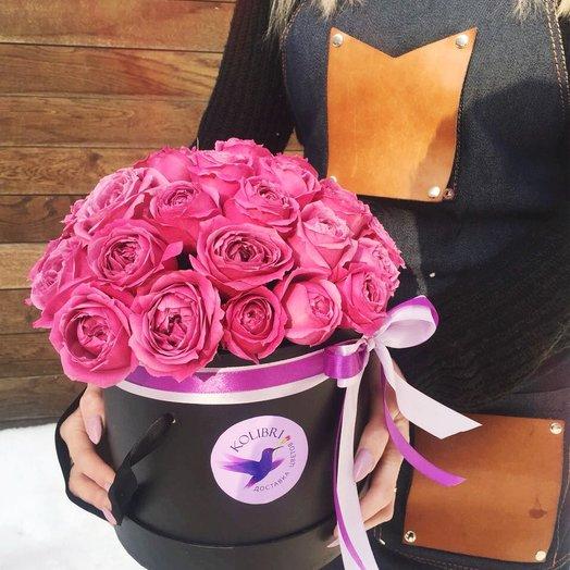 """Коробка с пионовидными розами"": букеты цветов на заказ Flowwow"