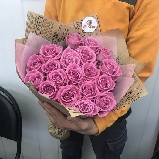 Букет из 19 роз аква: букеты цветов на заказ Flowwow