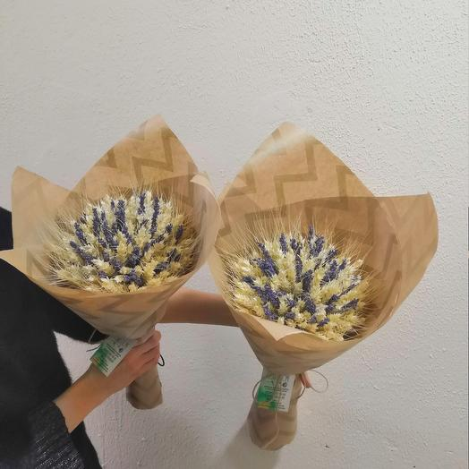 Букет из пшеницы и лаванды: букеты цветов на заказ Flowwow