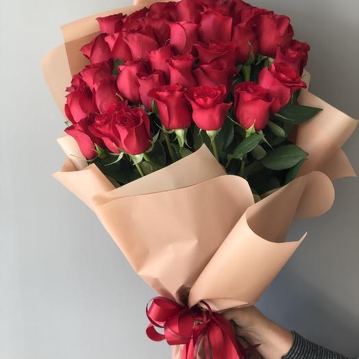 Букет 35 красный роз