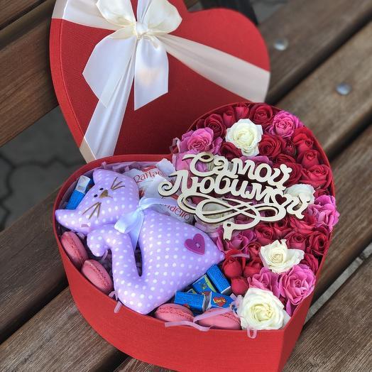 Сердце с котюней: букеты цветов на заказ Flowwow