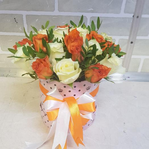 Коробочка из роз: букеты цветов на заказ Flowwow
