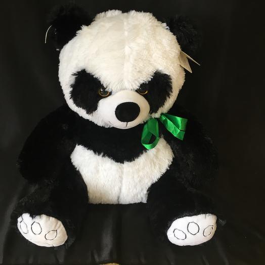 Плюшевая панда с бантом: букеты цветов на заказ Flowwow
