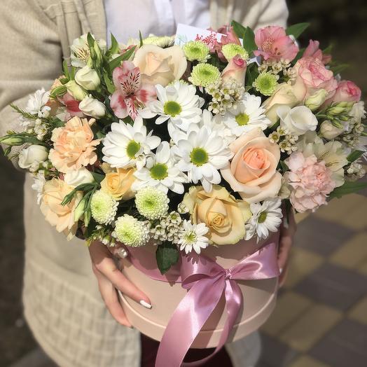 Цилиндр xxl «Объятия нежности»: букеты цветов на заказ Flowwow