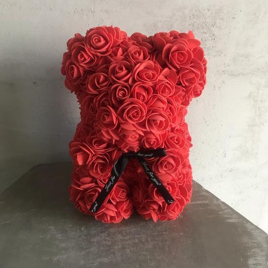 Мишка из роз: букеты цветов на заказ Flowwow