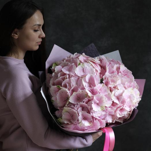 Букет из розовых гортензий: букеты цветов на заказ Flowwow