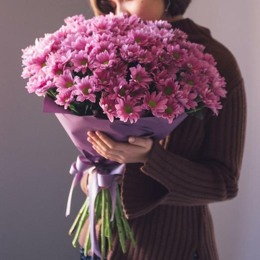 "Букет хризантем 💐 ""Романтика"": букеты цветов на заказ Flowwow"