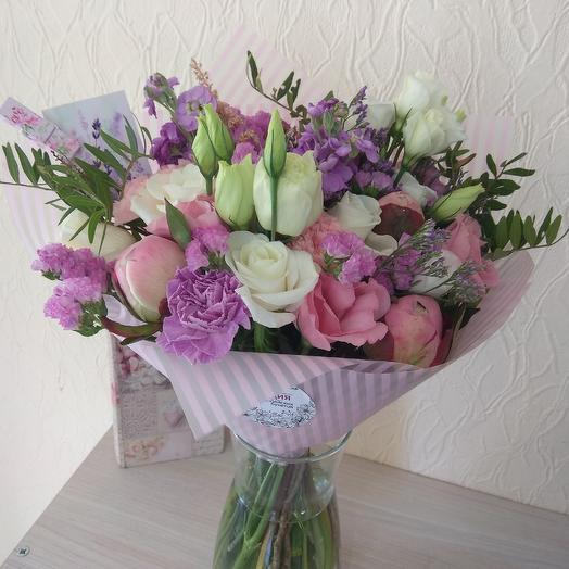 Клубничный щербет: букеты цветов на заказ Flowwow