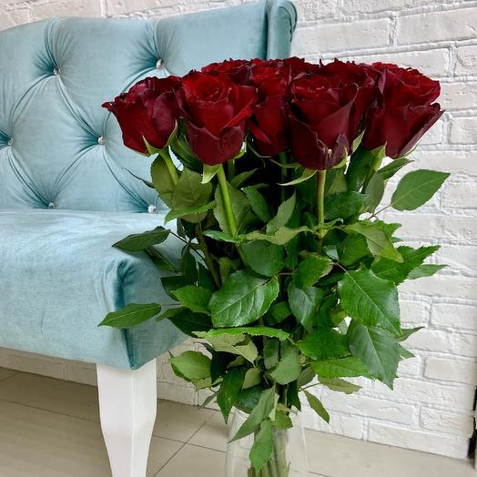 15 красных кенийских роз: букеты цветов на заказ Flowwow