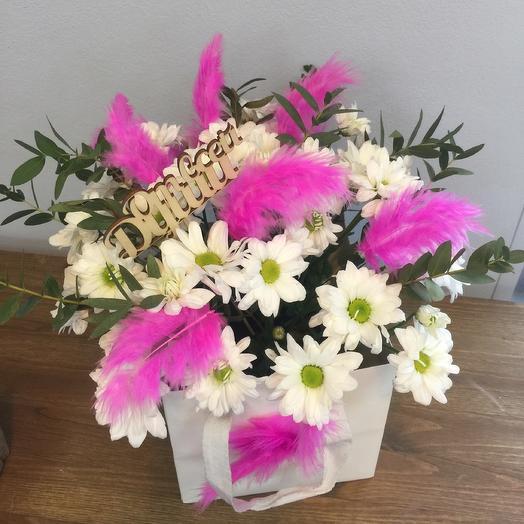 Цветы и перья: букеты цветов на заказ Flowwow
