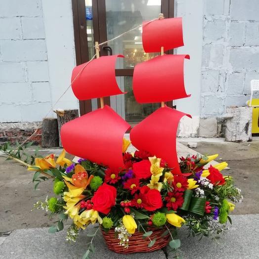 """Авторская композиция """"Алые паруса"""": букеты цветов на заказ Flowwow"""